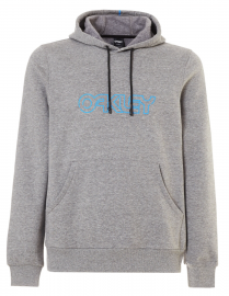 PÁNSKÁ MIKINA - OAKLEY FLEECE OAKLEY PIPING HOODED - ATHLETIC HEATHER GREY - 472434-24G-L