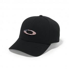 KŠILTOVKA - OAKLEY TINCAN CAP Black/American Flag - 911545-01V - L/XL