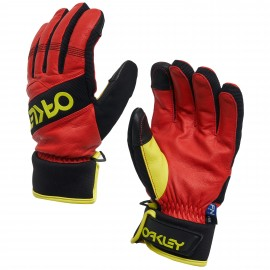 PÁNSKÉ ZIMNÍ RUKAVICE - OAKLEY FACTORY WINTER GLOVE 2.0 HIGH RISK RED M - 94263-43A-M