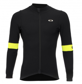 CYKLISTICKÝ DRES - OAKLEY THERMAL JERSEY BLACKOUT / HI-VIS YELLOW - 412651-05W-XL