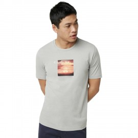 OAKLEY SUNSET PRINT TEE Stone Gray - 457548-22Y - M