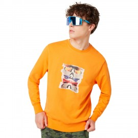 OAKLEY SUNGLASS PRINT CREWNECK Autumn Glory XL - 472572-71T-XL