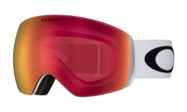 LYŽAŘSKÉ BRÝLE - OAKLEY Flight Deck Snow Goggle Matte White / Prizm Snow Torch Iridium - OO7050-35