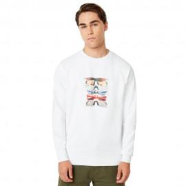 OAKLEY SUNGLASS PRINT CREWNECK White L - 472572-100-L
