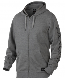 PÁNSKÁ MIKINA - OAKLEY DWR FP FZ HOODIE - ATHLETIC HEATHER GREY - 461399-24G-XL