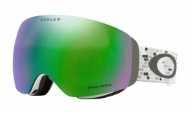 LYŽAŘSKÉ BRÝLE - Oakley Flight Deck XM Lindsey Vonn Snow Goggle Snowed In Stealth / Prizm Snow Jade Iridium - OO7064-71