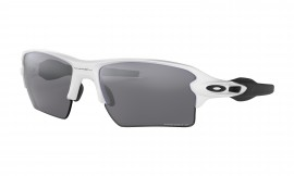 Oakley Flak 2.0 XL Polished White / Prizm Black Polarized - OO9188-8159